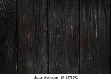 Background ebony, horizontal boards. Wooden old texture.