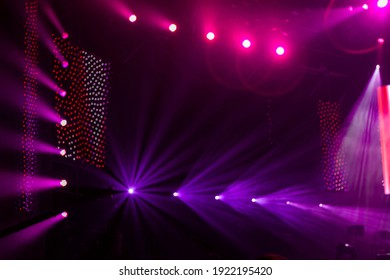Background editing image source with spectacular stage lighting and light effects