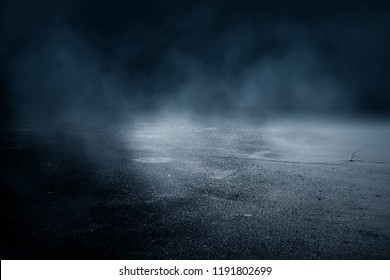 Background of an empty dark room.