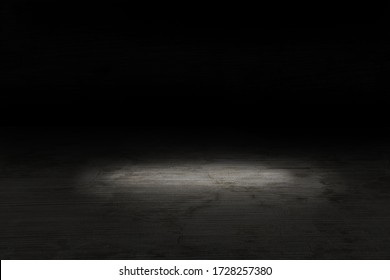 background empty dark room with spotlight.