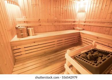 background of empty sauna room