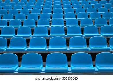 Background of empty seats in a stadium