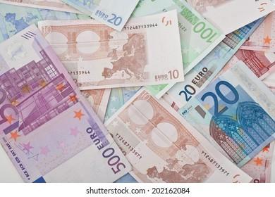 Background of euros money
