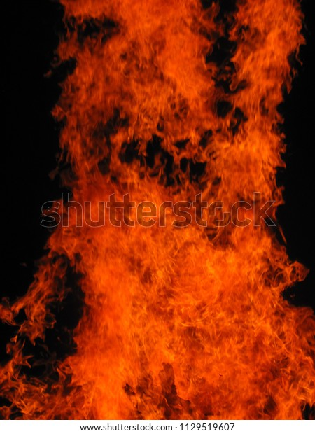 Background Fire Background Oxidizing Flame Oil Stock Photo