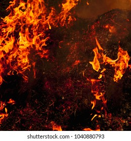 background of fire as a symbol of hell and eternal torment