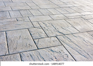 background of floor with paving stones