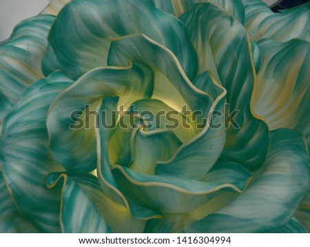 """Background - flower bud. Petals wave. Colors - yellow, dark green. Close-up. Inner glow. """"deliberately blurred"""""""