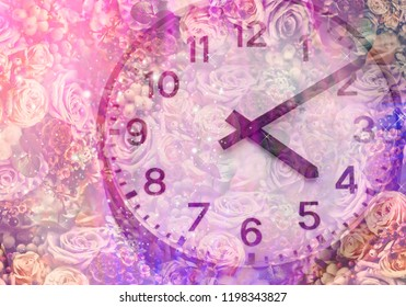 Background flowers and time
