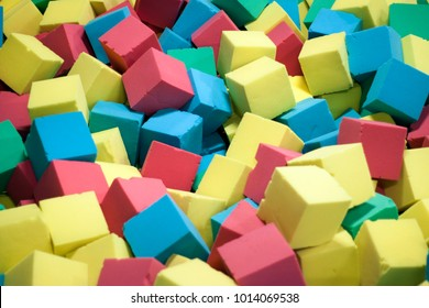 background of foam cubes