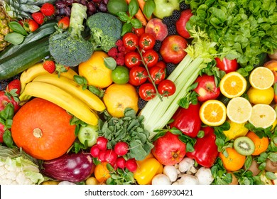 Background food fruits and vegetables collection fruit vegetable healthy eating diet apples oranges tomatoes backgrounds