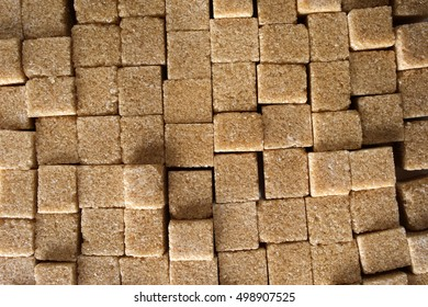 Background formed by a set of cubes of cane sugar