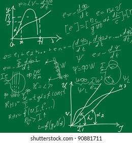 background with formulas, number equation