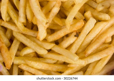 background of French fries