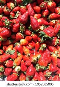 background from fresh ripe strawberries - Image