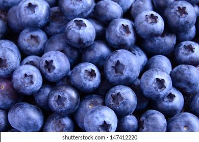 Background of Fresh Ripe Sweet Blueberries