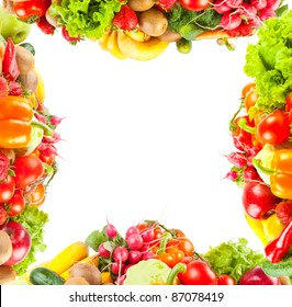 Background from fruit and vegetables