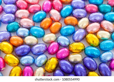 Background full of colorful easter eggs