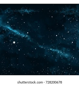 Background of galaxy in the space