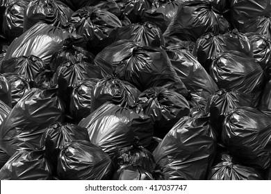 Background garbage bag black bin waste, Garbage dump, Bin,Trash, Garbage, Rubbish, Plastic Bags pile junk garbage Trash texture, Background waste plastic bin bag