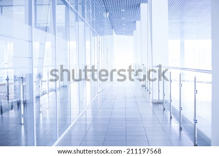 Office Backdrop Throughout Background Of Glass Corridor In Office Centre Backdrop Floor Roof Wall Perspective Glass Corridor Office Centre Stock Photo edit