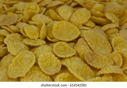 background of goldish corn flakes