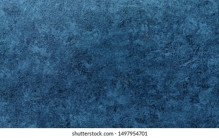 Background - grain texture blue paint wall. Beautiful abstract grunge decorative navy blue dark wallpaper.