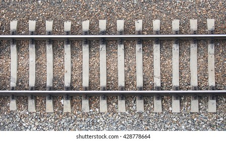 Background with gravel and railroad line