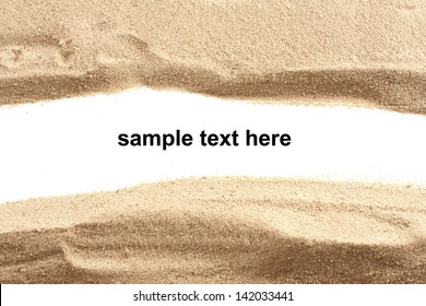 background of gravel and white space