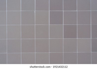 background gray ceramic tiles laying without pattern wall