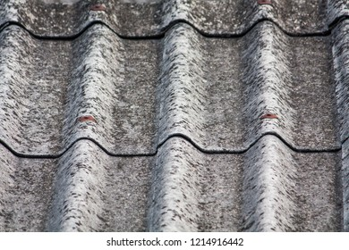 Background of gray old tiles roof