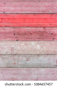 Background with gray and red weathered boards