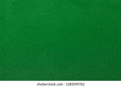 Background of green felt closeup