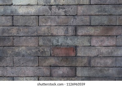 Background of grey color brick wall texture