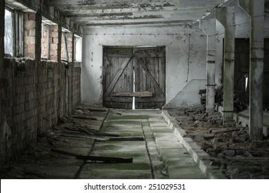 Background of grunge empty interior