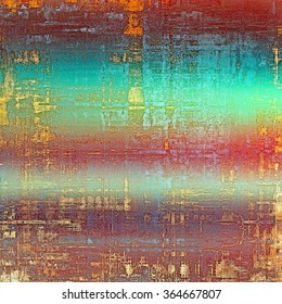 Background with grunge stains. With different color patterns: yellow (beige); brown; blue; green; red (orange)