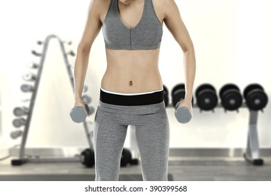 background of gym interior and traning