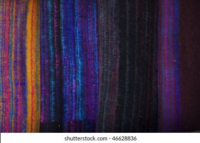 Background from hand made woolen fabric