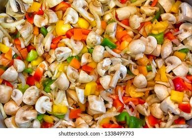 Background of healthy fresh vegetarian salad