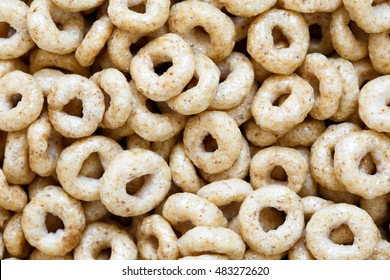 Background of honey cheerios from above.