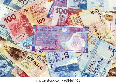 Background of Hong Kong Dollars banknotes currency  , cash