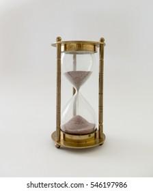 Background I hourglass brass glass sand
