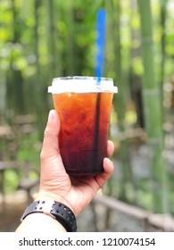 Background: Ice Coffee: Americano