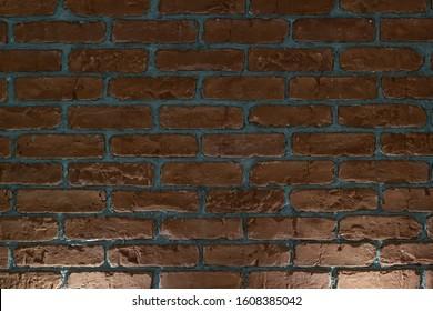 Background, illumination. Brick wall and two light spots
