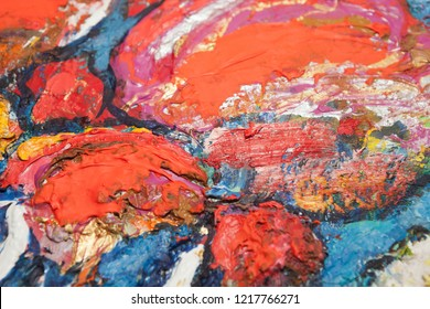 Background image of bright oil paint palette