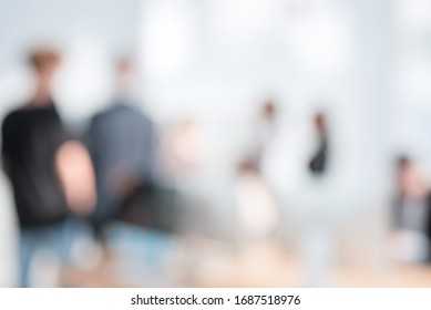 background image of company employees in the office