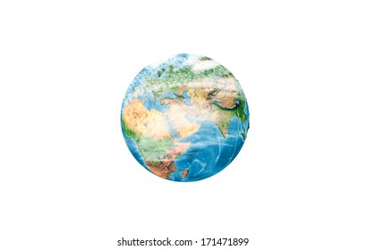 Background image with Earth planet on white background. Elements of this image are furnished by NASA