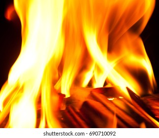 Background with the image of fire