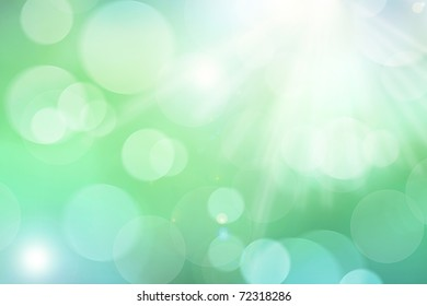 Background image in green and blue spring colors