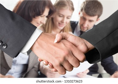 background image of handshake of business people