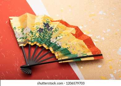 background image of the Japanese fan
